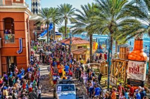 Mardi Gras Parade at HarborWalk Village Destin, Florida