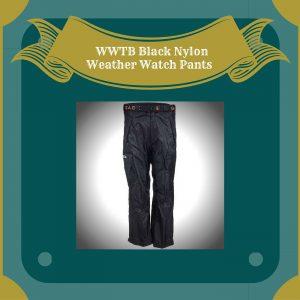 WWTB Black Nylon Weather Watch Pants