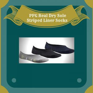 PFG Real Dry Sole Striped Liner Socks