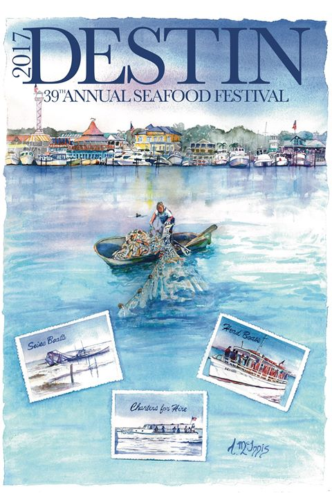 2017 Destin Seafood Festival Poster