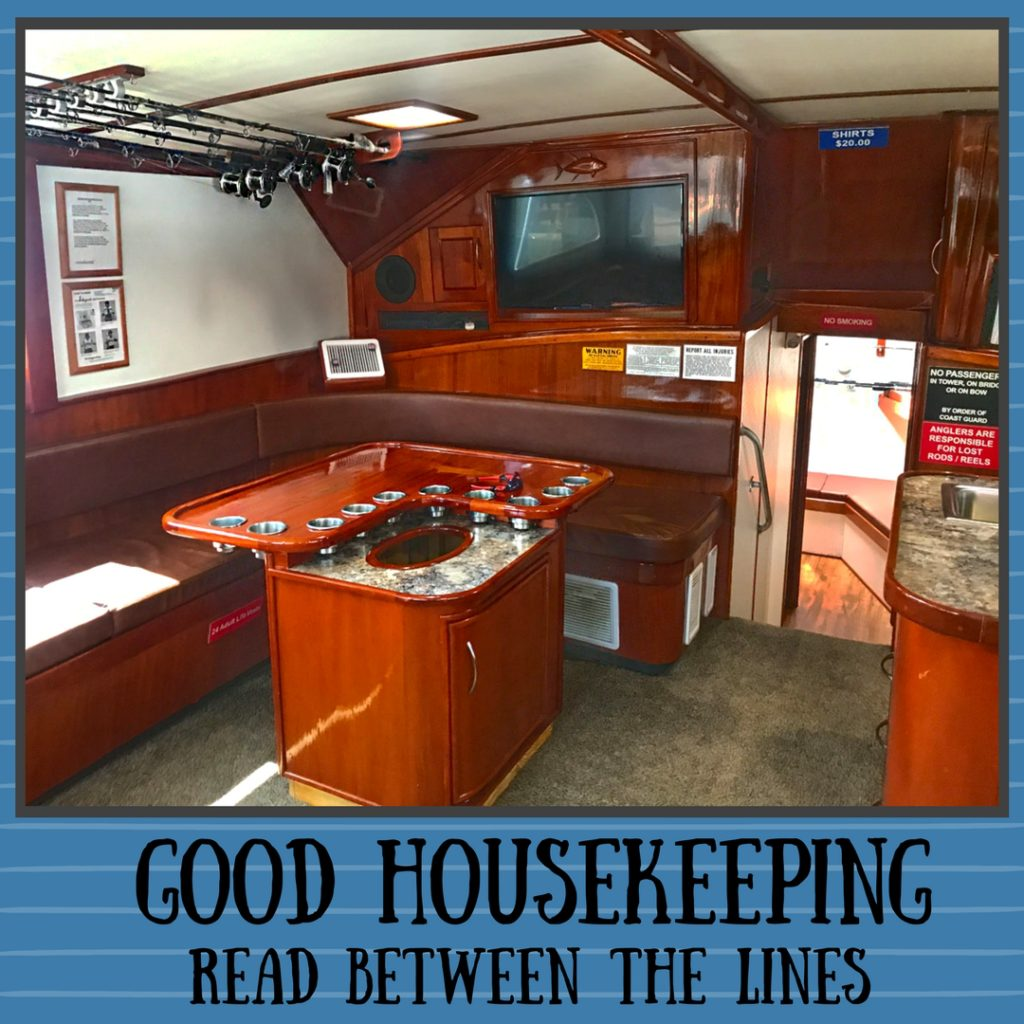 interior of Finest Kind charter boat
