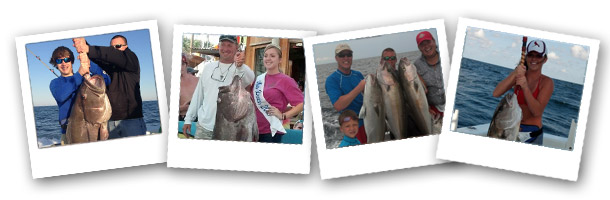 Photo Strip of People Deep Sea Fishing