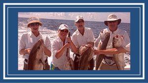 Deep sea fishing Destin, Florida funny action shot