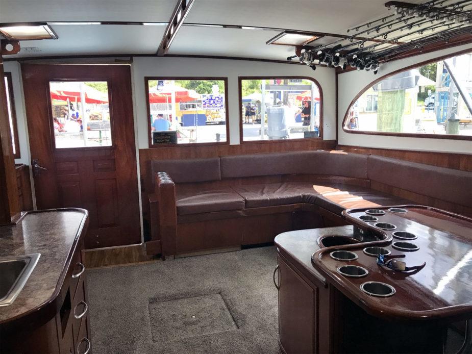 Finest Kind Charter Boat Interior