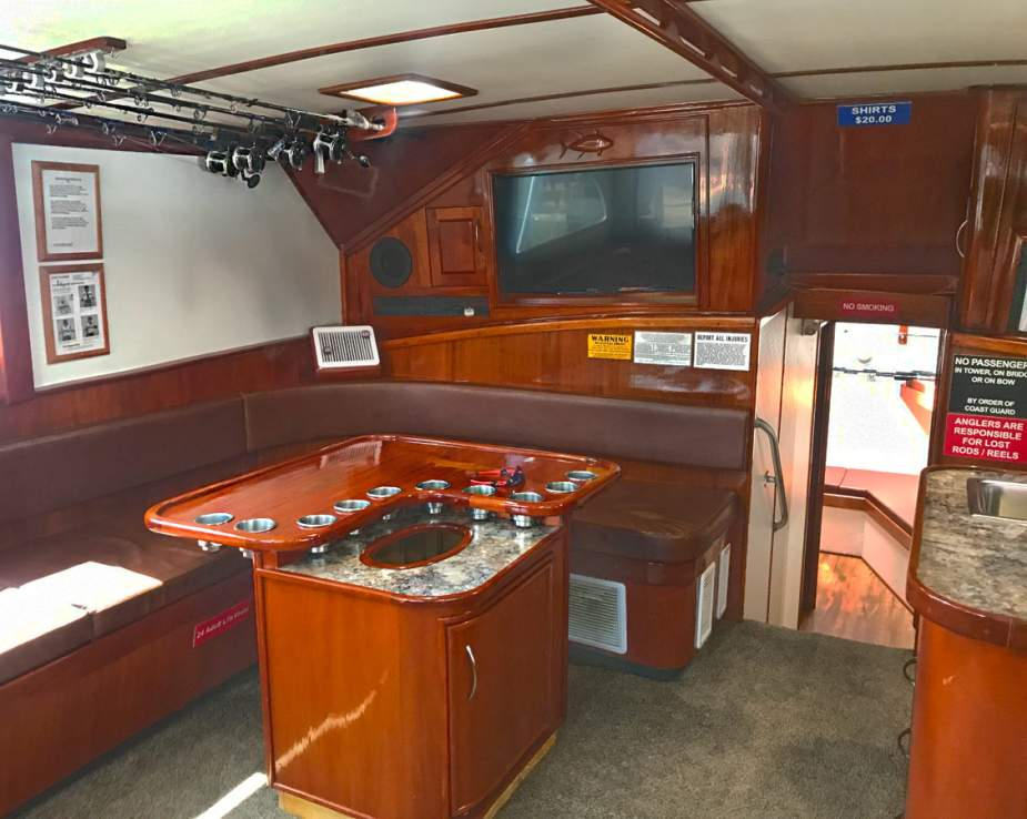 Interior of Charter Boat Finest Kind