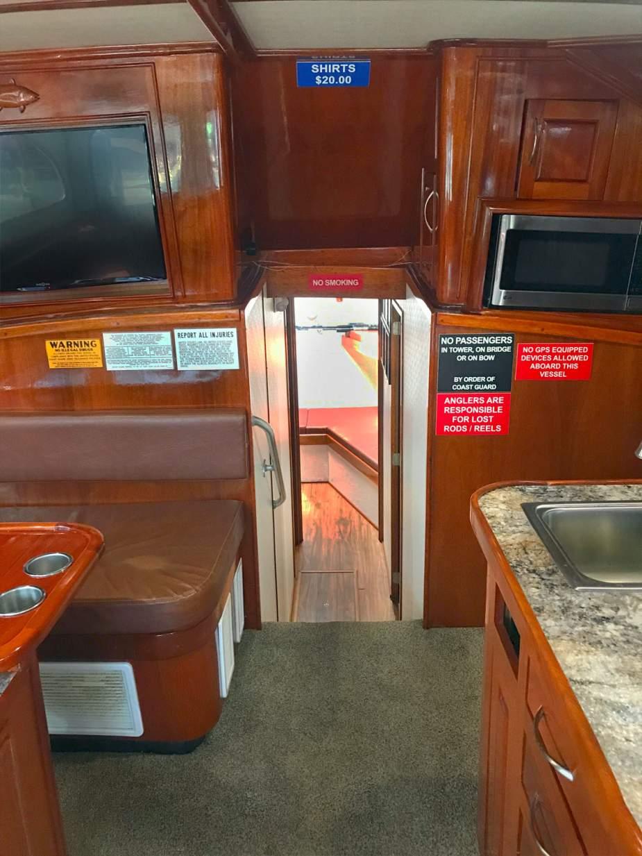 Interior Charter Boat Finest Kind