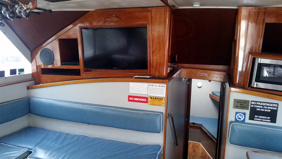 Inside The Finest Kind Charter Boat (TV Screen)